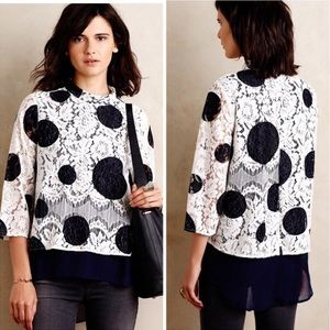 Anthropologie HD in Paris Dotted Lace Top